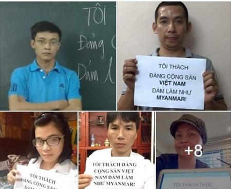 Chúng tôi thách đố đảng cộng sản Việt Nam dám làm như Myanmar. Toàn dân Việt Nam thách đố đảng cộng sản Việt Nam dám làm như Myanmar. Thế giới cũng thách đố đảng cộng sản Việt Nam dám làm như Myanmar. Hảy để người dân Việt có quyền lựa chọn để bầu lãnh đạo